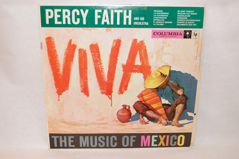 "PERCY FAITH & ORCHESTRA VIVA The Music Of Mexico 12"" Vinyl LP Columbia CL-1075"