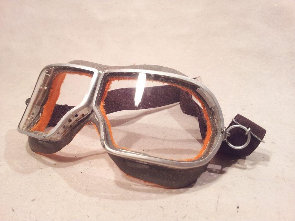� SOVIET RUSSIAN USSR DUST GLASSES FIELD GOGGLES PILOT MOTORCYCLE WW2