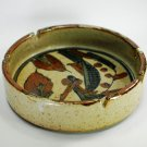 Ashtray Art Pottery Salt Glaze Handmade Vintage 1970s Speckle FAB  Mid Century