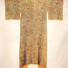 Kimono Japan Vintage Komon Mauve Cream Flower Silk Hand Robe Dress Original