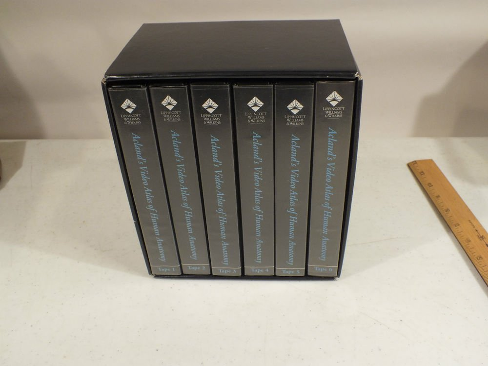 Acland's Video Atlas of Human Anatomy VHS Tapes 1-6 SIX TAPES TOTAL Lipponcott