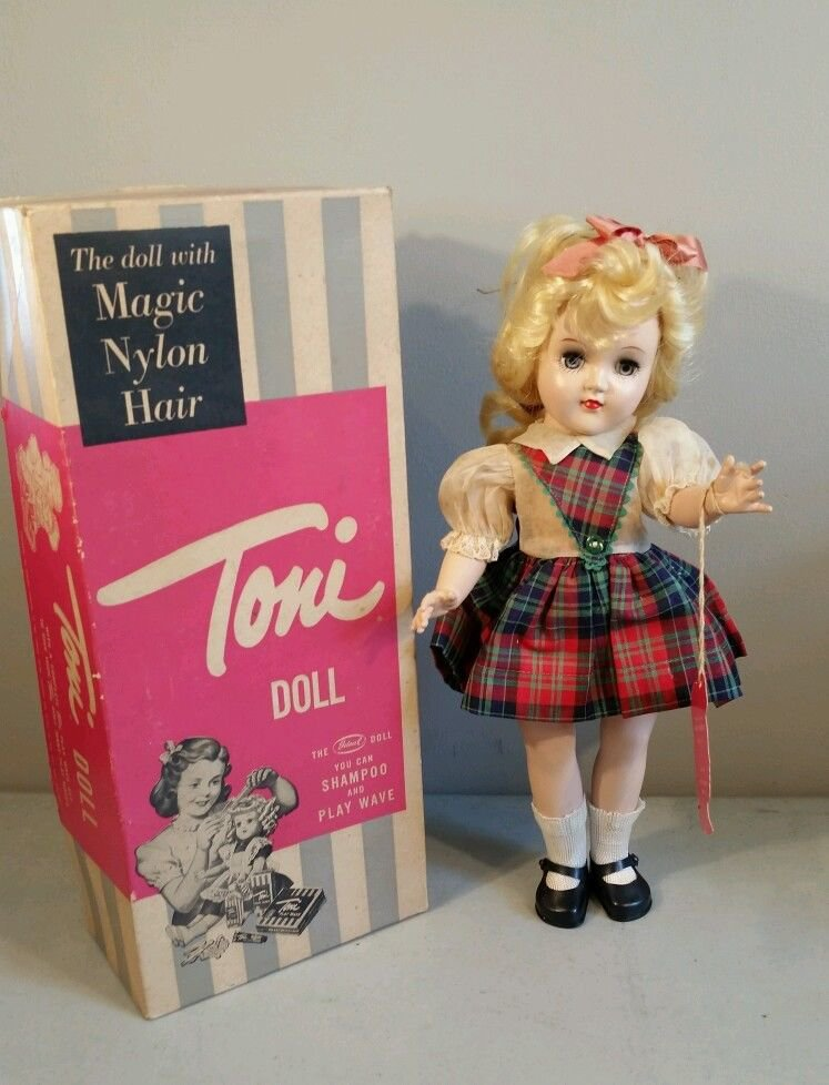 Ideal Vintage Toni Doll - BLONDE  w/ box 14.5 inches