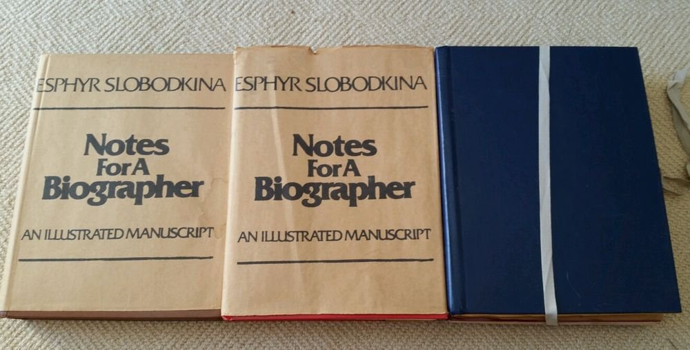 Rare limited signed Esphyr Slobodkina books 3 vol set Notes for a Biographer