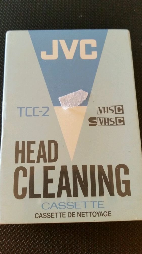 New JVC TCC-2 Head Cleaning Cassette for VHS-C Camcorder