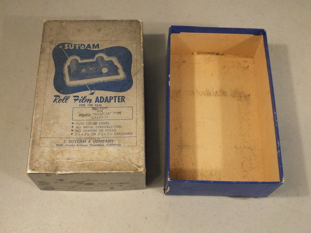 Box only for Suydam Roll Film Adapter