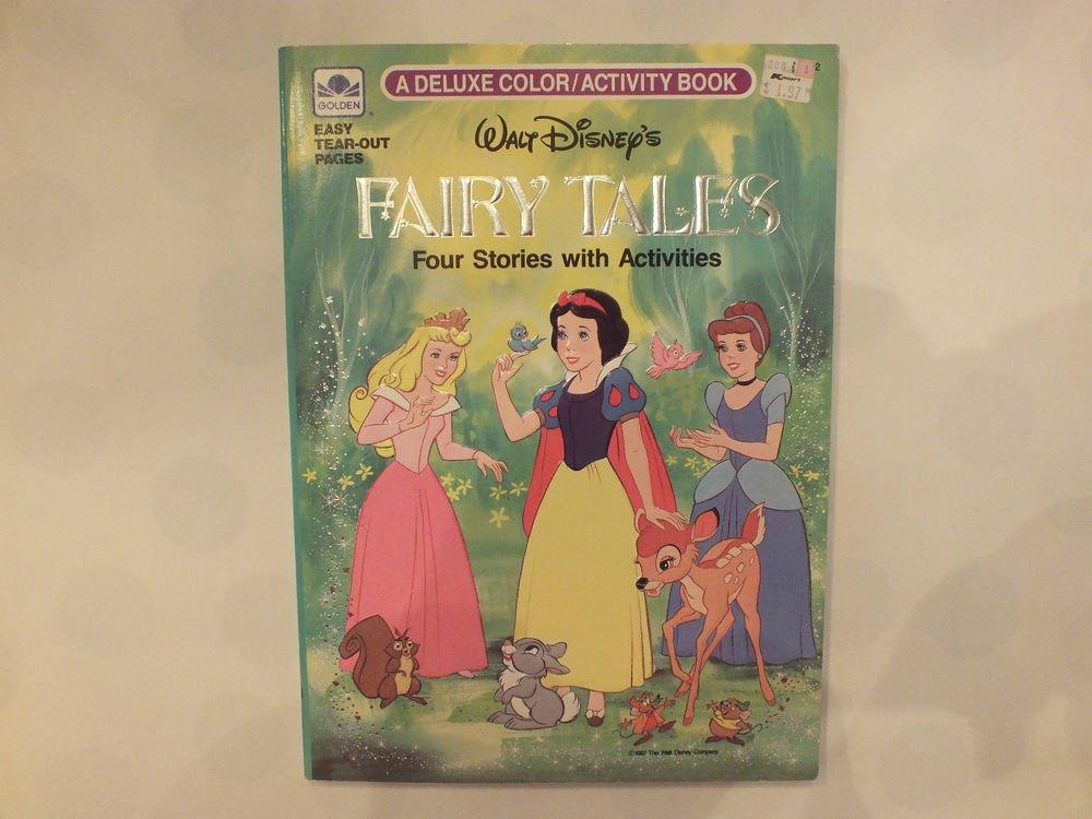 Unused Vintage Golden Four Stories w/ Activities Deluxe Book Disney's