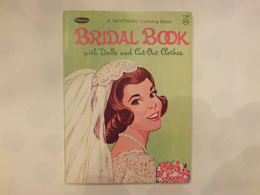 Unused Vintage Whitman Bridal Book w/ Dolls and Cut out Clothes