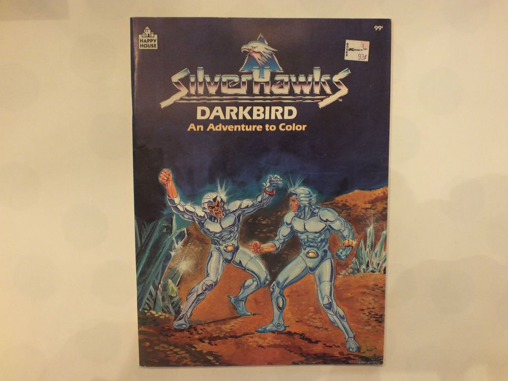 Unused Vintage Happy House Coloring Book Silver Hawks Dark Bird Adventure to