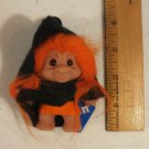 "DAM TROLL DOLL 3"" ORANGE HAIR HALLOWEEN WITCH WANDA"