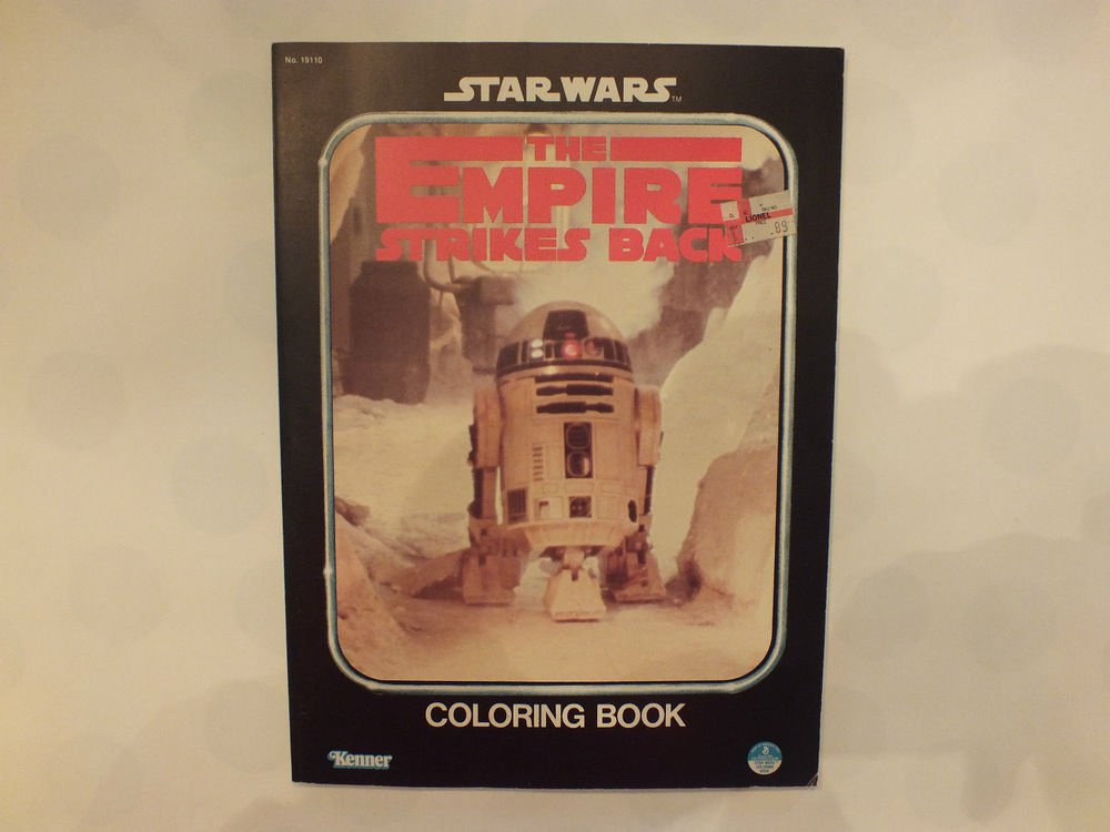Unused Vintage Kenners Coloring Book Star Wars Empire Strikes Back R2D2