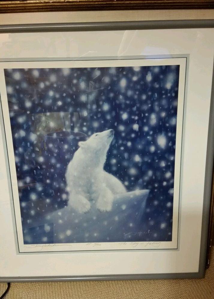 "Bruce Shingledecker Lithograph ""The Sky is Falling"" S/N Artist Proof Polar Bear"