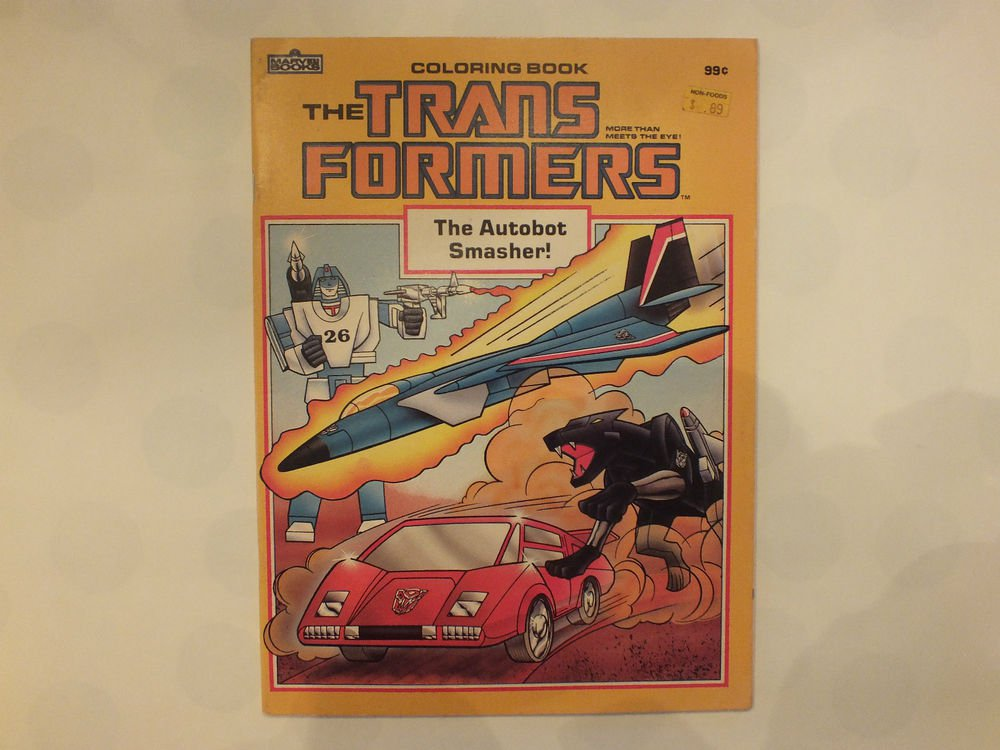 Unused Vintage Coloring Book The Transformer The Autobot Smasher