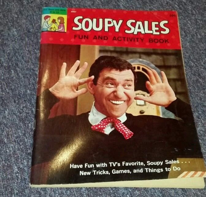 1965 UNUSED SOUPY SALES FUN & ACTIVITY BOOK
