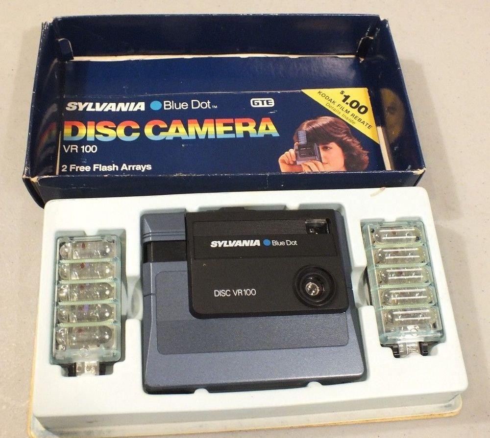 Sylvania Blue Dot Disc Camera VR100  w/ original box
