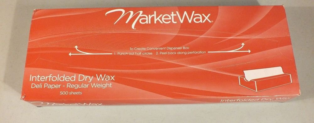 "MarketWax MW15 Interfolded Dry Wax Deli Paper REGULAR Wght 15""x10.75"" 500 SHEET"