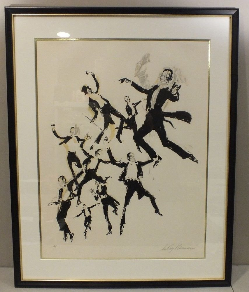 Leroy Neiman Serigraph Print Fred Astaire Artist Proof Pencil Signed Figure