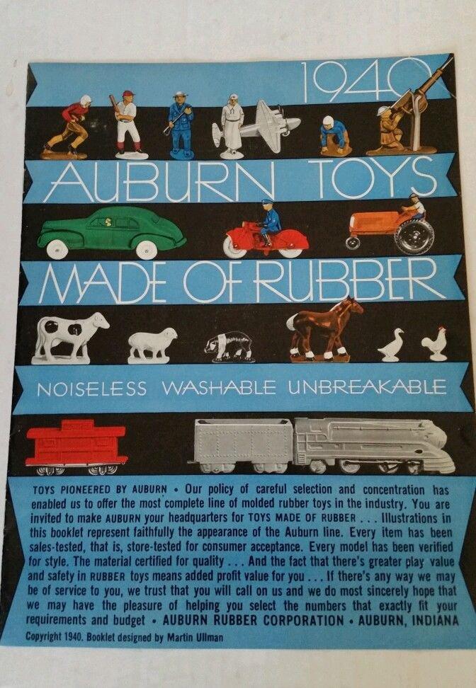 Rare 1940 Auburn Rubber Toys Catalog