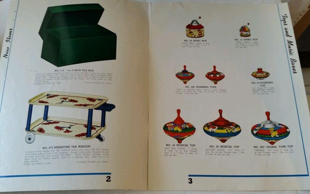 Rare 1940 Ohio Art Lithographed Toys Catalog