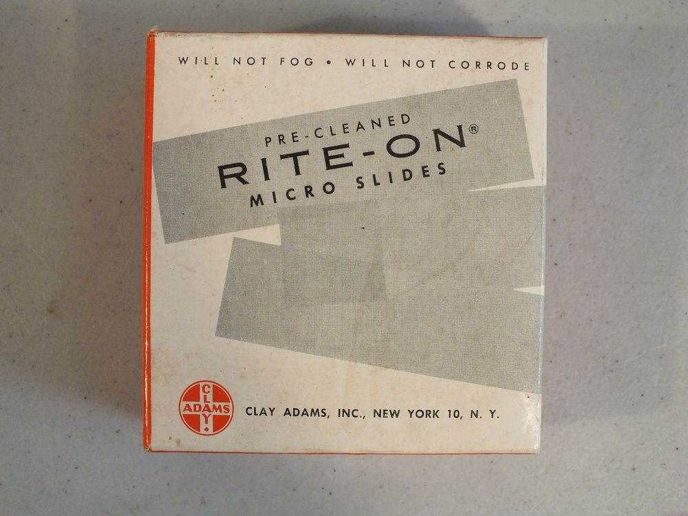 Rite-on Gold Seal Micro Slides Pre Cleaned 3050  One End Frosted Side 25x75mm