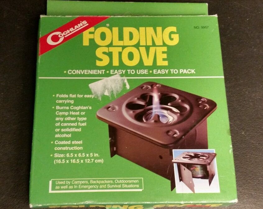 Coghlans Folding Camping / Outdoors Stove - Emergency Heat / Cooking 9957
