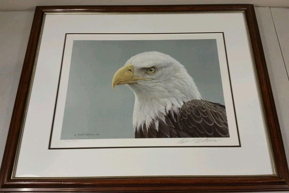 Robert Bateman Bald Eagle Portrait Limited Edition Art Print  Framed 1983
