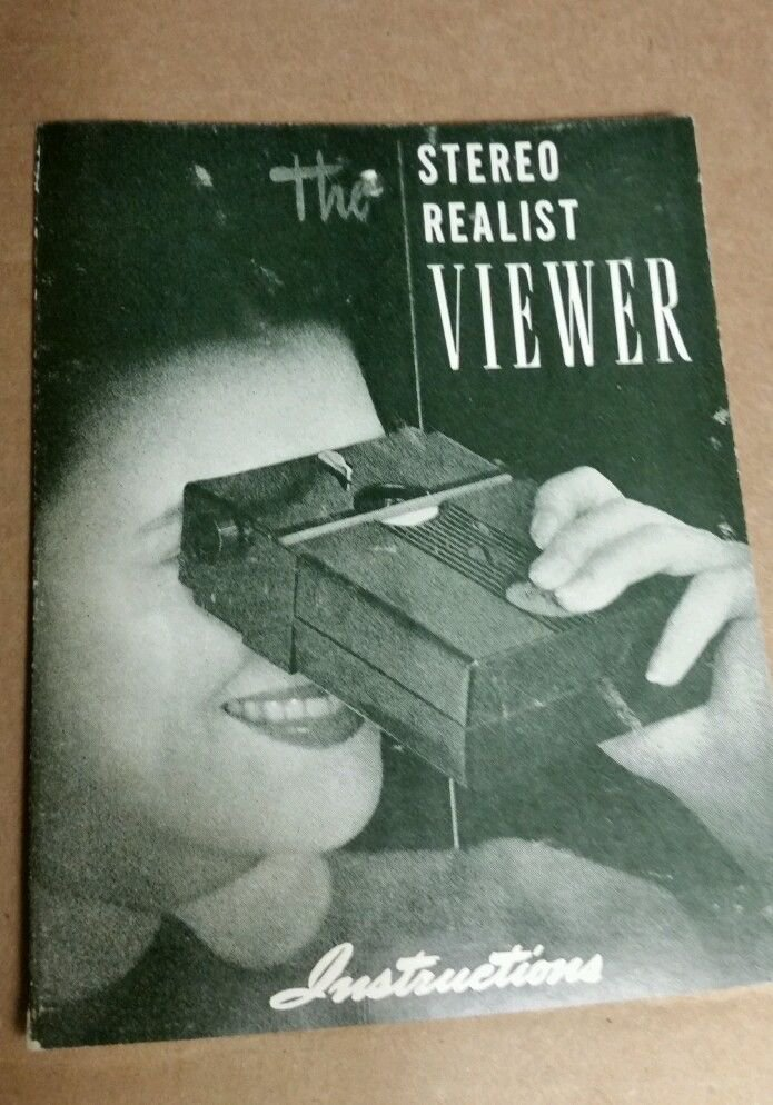 Vintage Stereo Realist Viewer Model ST-61 Instruction Manual Booklet