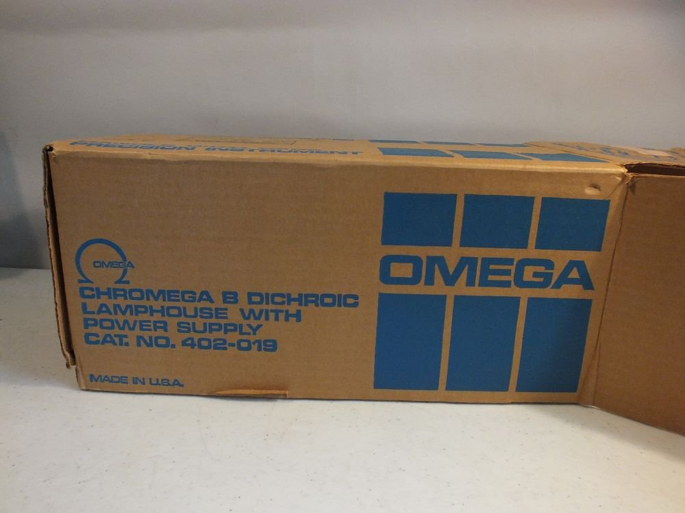chromega dichroic b lamphouse + power supply 402-019 hardly used w/ box paper