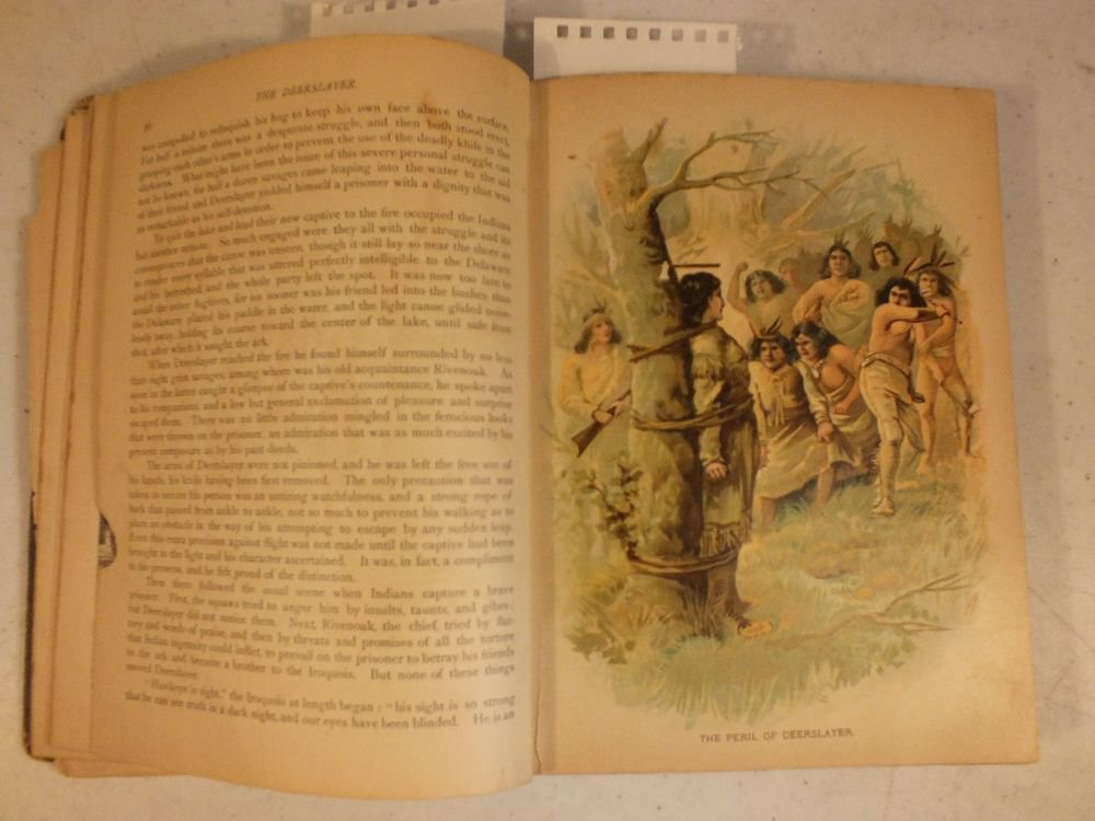 1897 Stories of American Pioneer Life by J.Fenimore Cooper +10 Color Lithographs