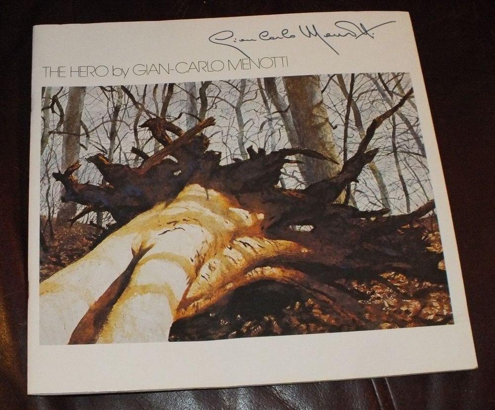 Rare Gian Carlo Menotti signed deluxe program  Limited Edition American Composer