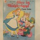 Unused Vintage Whitman Disney's Alice in Wonderland Paper Cut Out Doll 1976