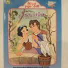 Unused Vintage Golden Disney's Snow White Deluxe Paper Cut Out Doll 1991