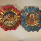 PAIR OF VINTAGE CHRISTMAS PAPER DISH BOWL PLATE WEST GERMANY