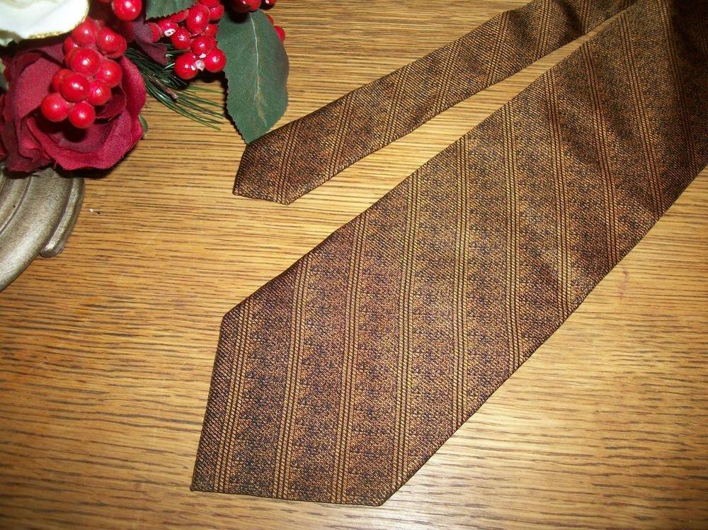 Laurent Benon Paris Silk Tie Black Copper  Necktie USA Made Mens VTG Fashion