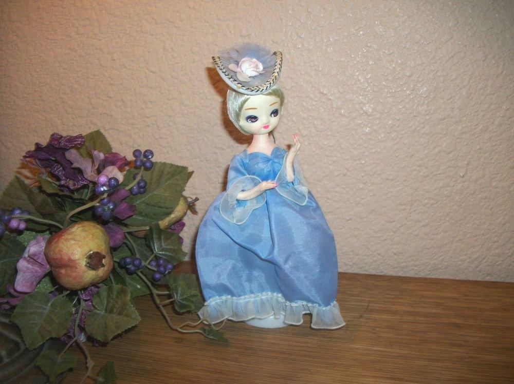 Charming Brinn's Pose Doll Blue Dress Stockingette Southern Belle VTG 1970's
