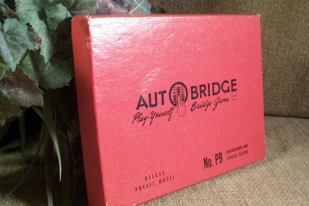 Autobridge Bridge Game VTG 1960's Personal Hand Held Home Travel Original Box