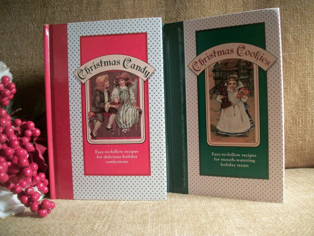 Christmas Candy and Christmas Cookies Set of Two Vintage Holiday Recipe Books
