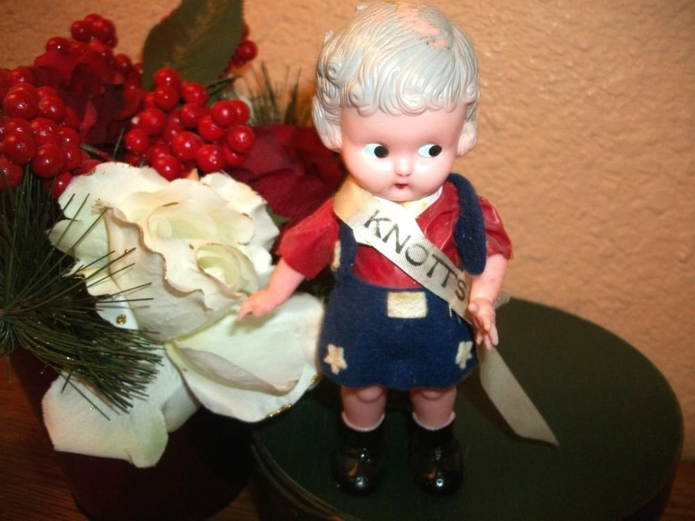 "Antique Doll 6"" Celluloid 1930's Knott's Berry Farm Souvenir Patriotic Clothing"
