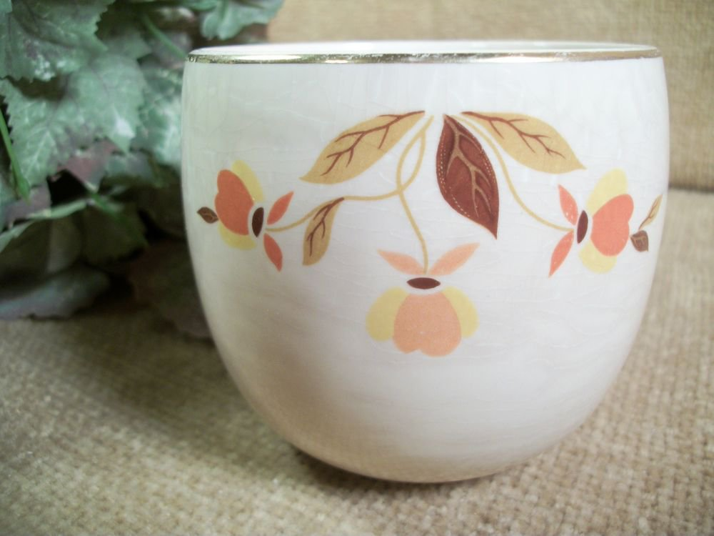 Superior Hall Autumn Leaf Bowl Cup Dish Mary Dunbar VTG 1950's Tableware