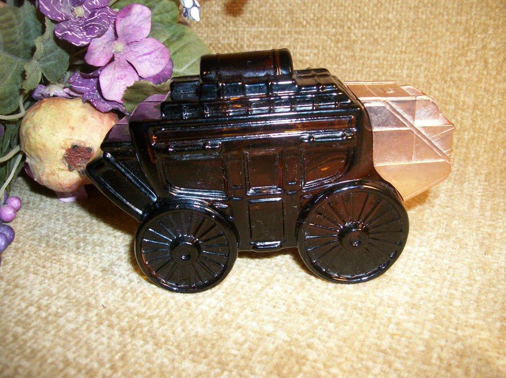 Avon Glass Stagecoach Collectible VTG Decanter Men's Oland Fragrance Home Decor