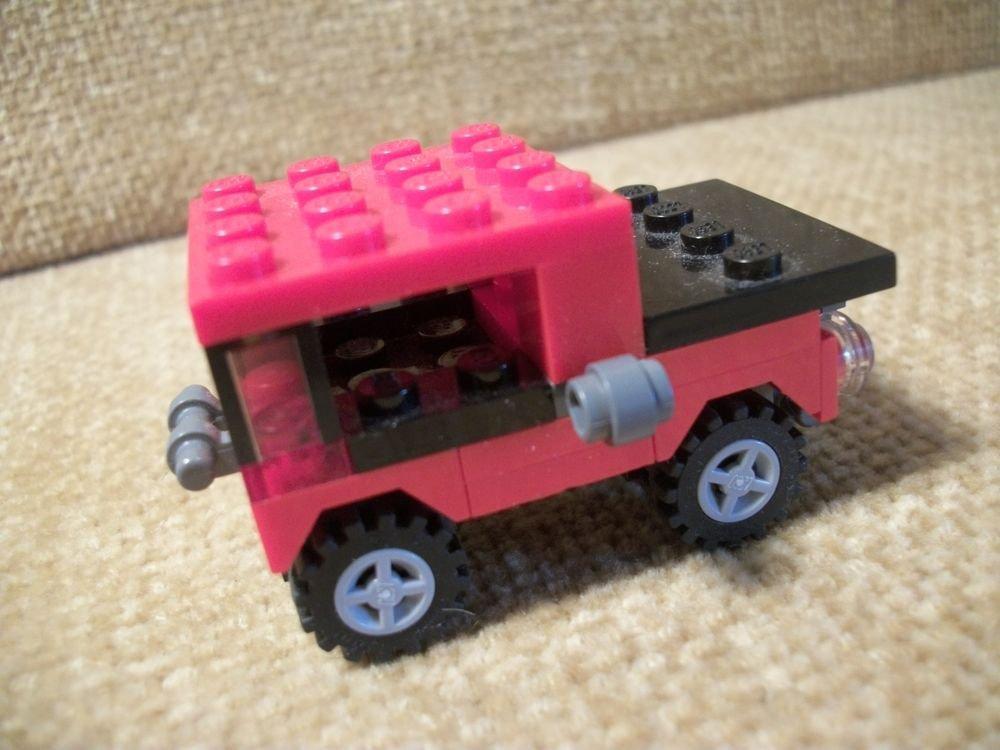 Real LEGO  Mini Red Jeep 4 x 4 Item 7803 Creator in Pod