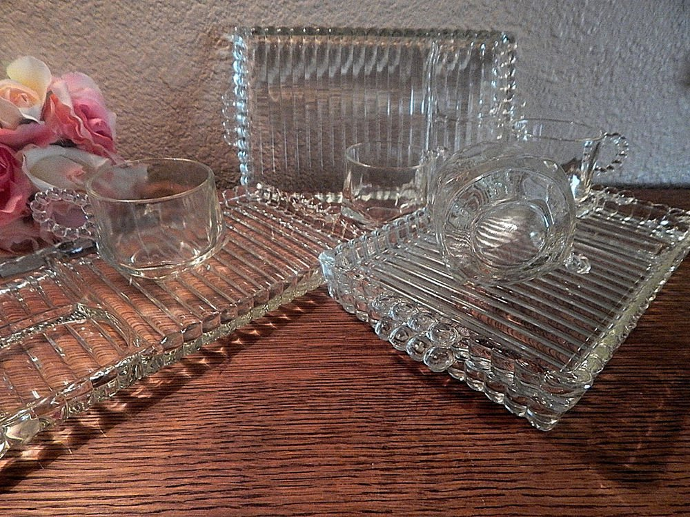 Dessert Serving Dishes Snack Set Cup Plate Vintage Anchor Hocking Berwick Boopie