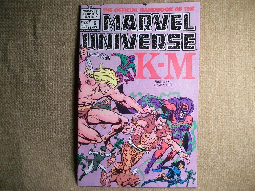 Comic Book Official Handbook Marvel Universe Kang -Man Bull VTG Vol 1 No 6 1983