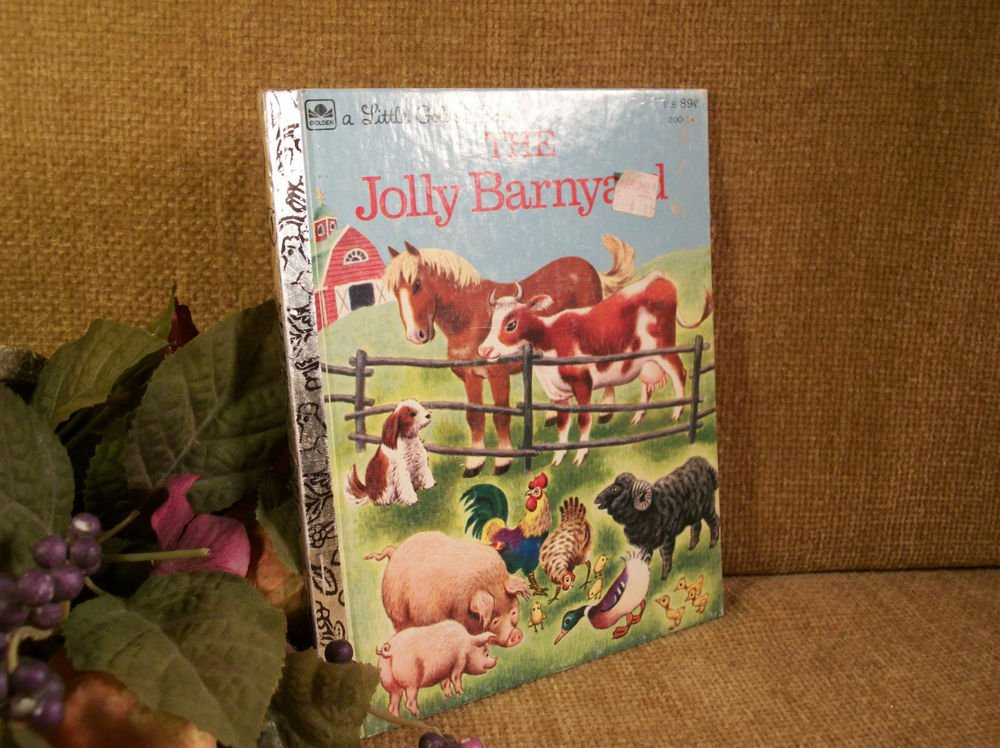 The Jolly Barnyard Children's Story Book Illustrated Little Golden Book VTG 1978