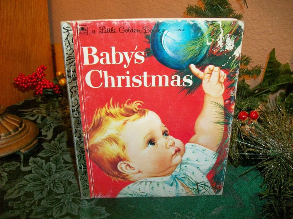 Baby's Christmas Little Golden Book VTG 1991 Picture Story Esther Eloise Wilkin