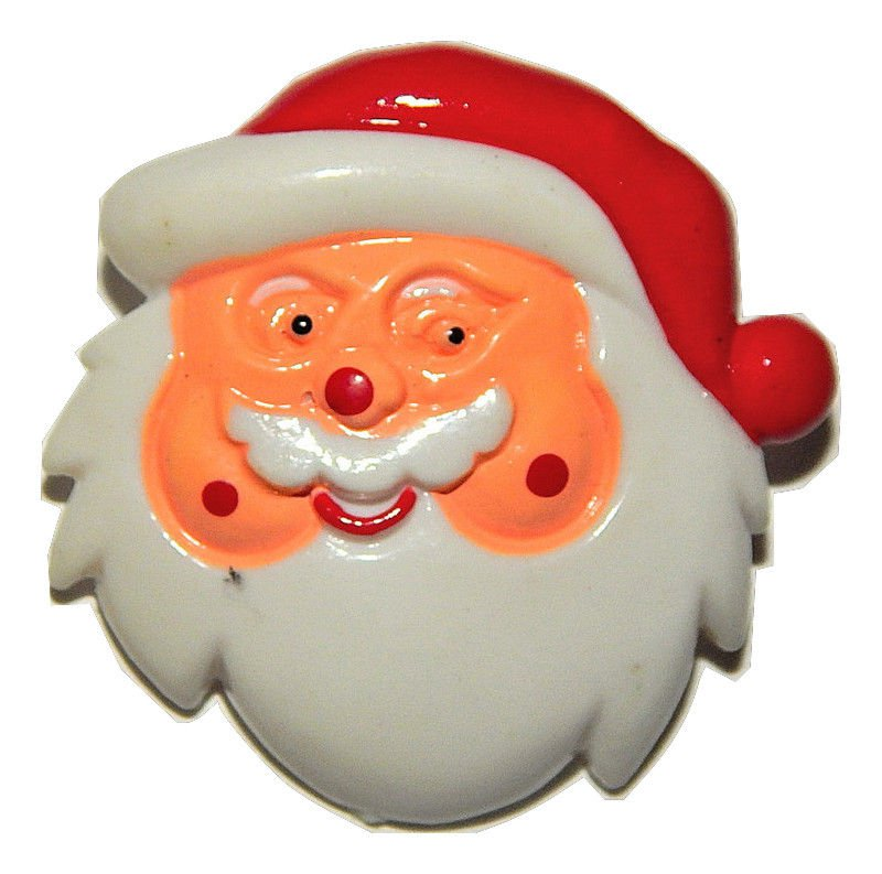 Santa Claus Pin Vintage 1970's Novelty Christmas Jewelry Colorful Holiday Brooch