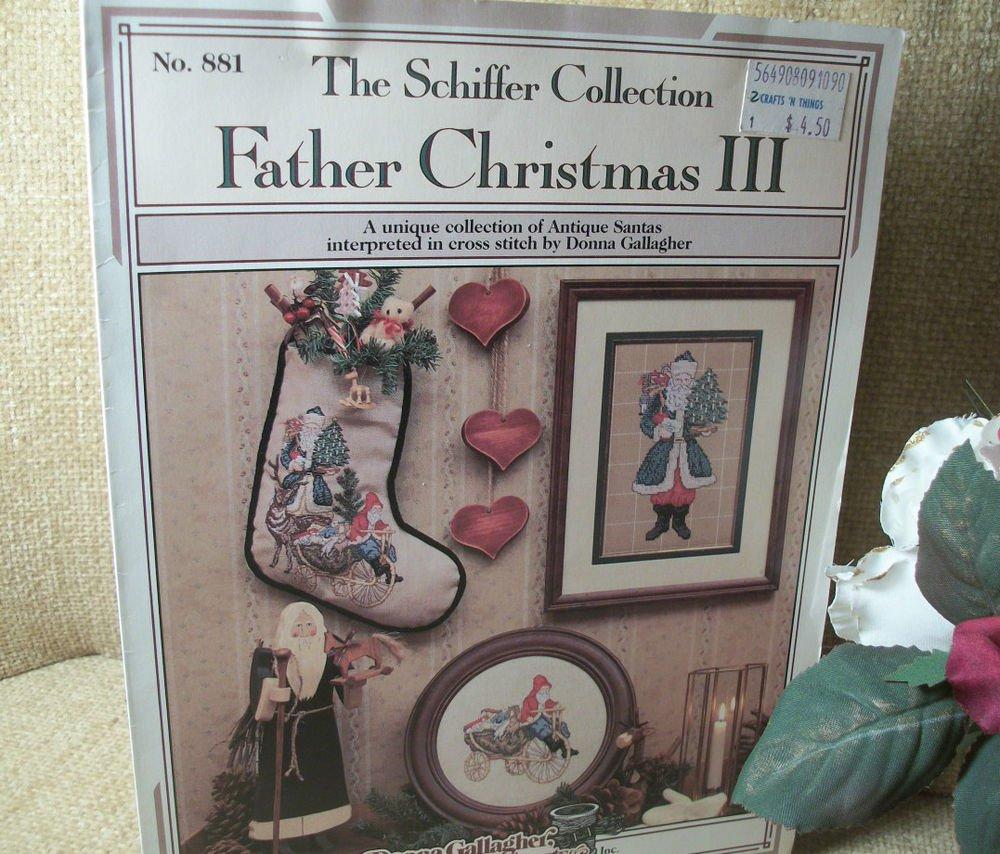 Cross Stitch Patterns Father Christmas II Old World Santa Stocking Wall Art