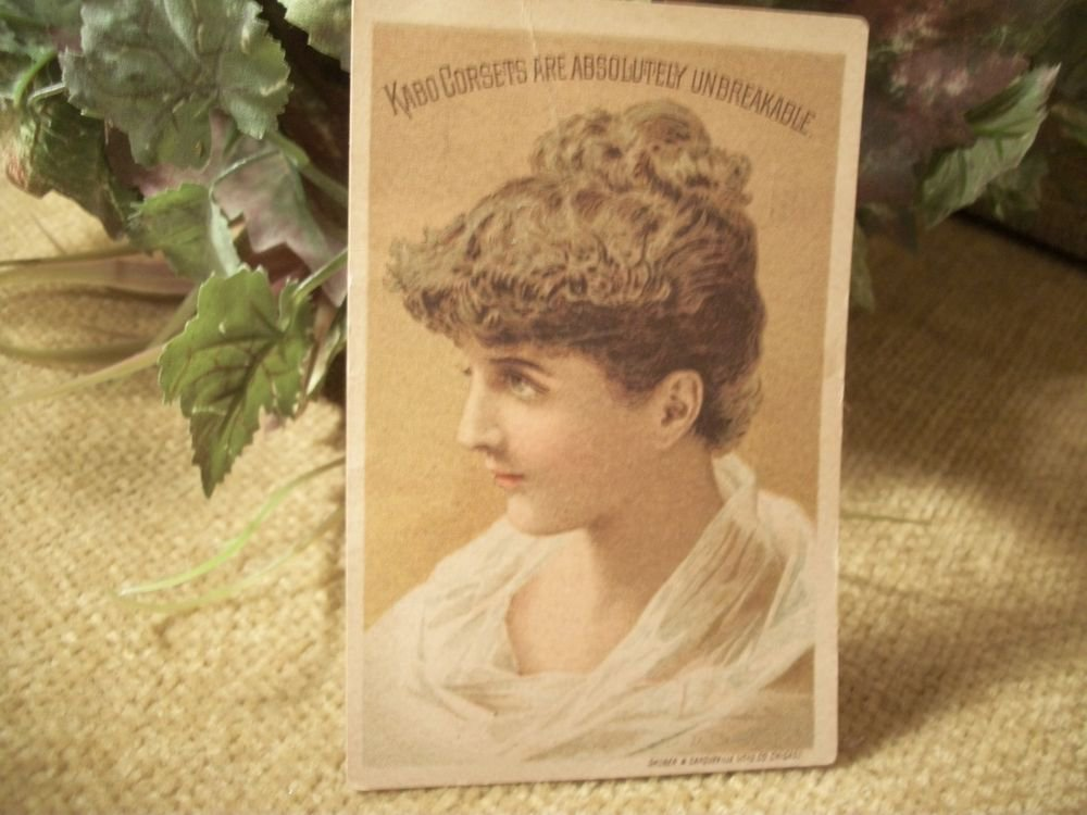 Antique 1890's Kabo Corset Picture Card Advertising Paper Ephemera Victorian Era