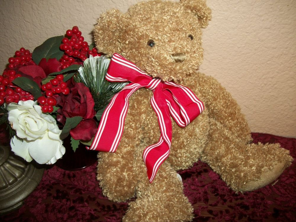 Tucker Teddy Bear Brown Plush Stuffed Animal First and Main Valentine's Day Gift