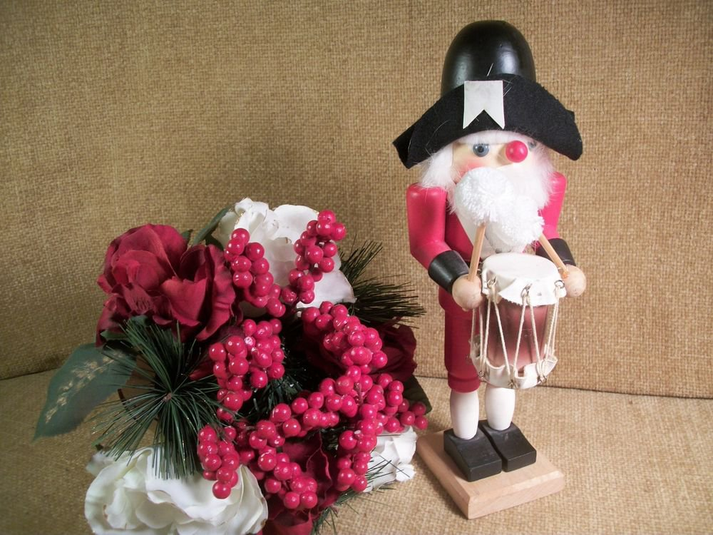 Nutcracker Soldier Marching Band Drummer Vintage Christmas Decoration