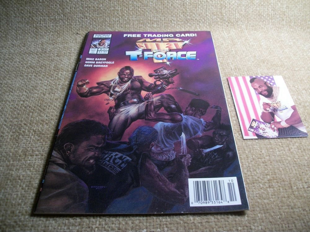 Mr. T and the T-Force Oct 1993 War Action VTG Comic Book with Trading Card